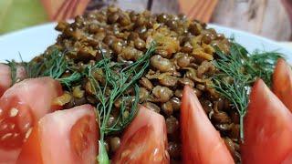 Вкусный и простой рецепт чечевицы с морковью и луком ! Постное, вегетарианское блюдо!