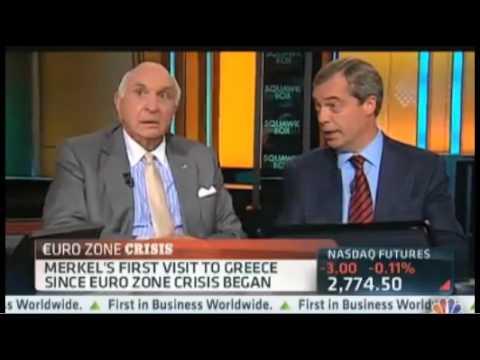 CNBC - UKIP Nigel Farage on Merkel Visiting Greece Amid Protests. - October 2012