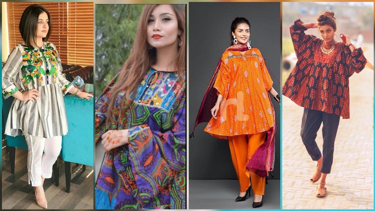 Extremely Beautiful New Style Kurta and Kurti Jhabla style Frocks In Latest Fashion