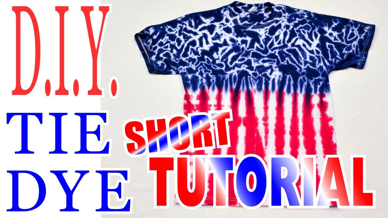 583d61f387d5 DIY Tie Dye Shirt- Red White   Blue  Short Tutorial   50 - YouTube