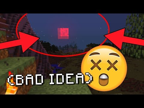 Minecraft HAUNTED BLOOD MOON (Summoning the Secret Minecraft Blood Moon)