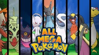 Pokemon X and Y - ALL MEGA EVOLUTIONS!