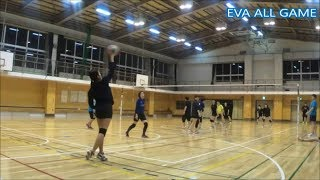 【男女混合バレーボール】SPECIAL 練習試合#3-1 EVA25点ゲーム[Commentary]解説 Men and Women Mixed Volleyball JAPAN TOKYO