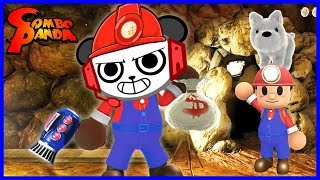 Spelunker World MARIO IMPOSTOR WITH A PUPPY Let's Play with Combo Panda