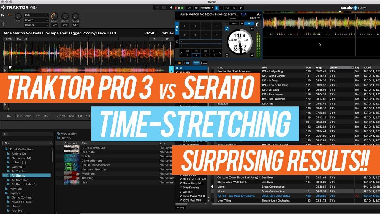 Traktor Pro 3 vs  Serato - Compare Audio Engine Time-Stretching