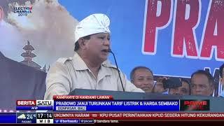 Kampanye di Bali, Prabowo: Harga Makin Tak Terjangkau, Rakyat Terjepit