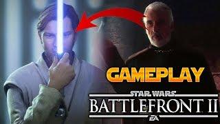 CONDE DOOKU GAMEPLAY ANIMACIONES en Star Wars Battlefront 2 - EA - DICE - ByOscar94