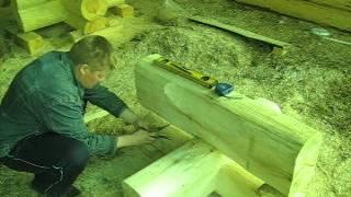 Черчение. Рубка в Лафет (норвежская рубка)(Срубы из Псковской области: Лафет (норвежская рубка). Russia log cabin, Russia log house., 2012-05-19T15:42:54.000Z)