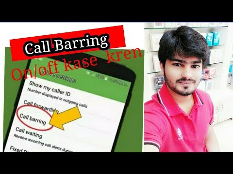What is Call Barring ? Turn on /off on Android phone