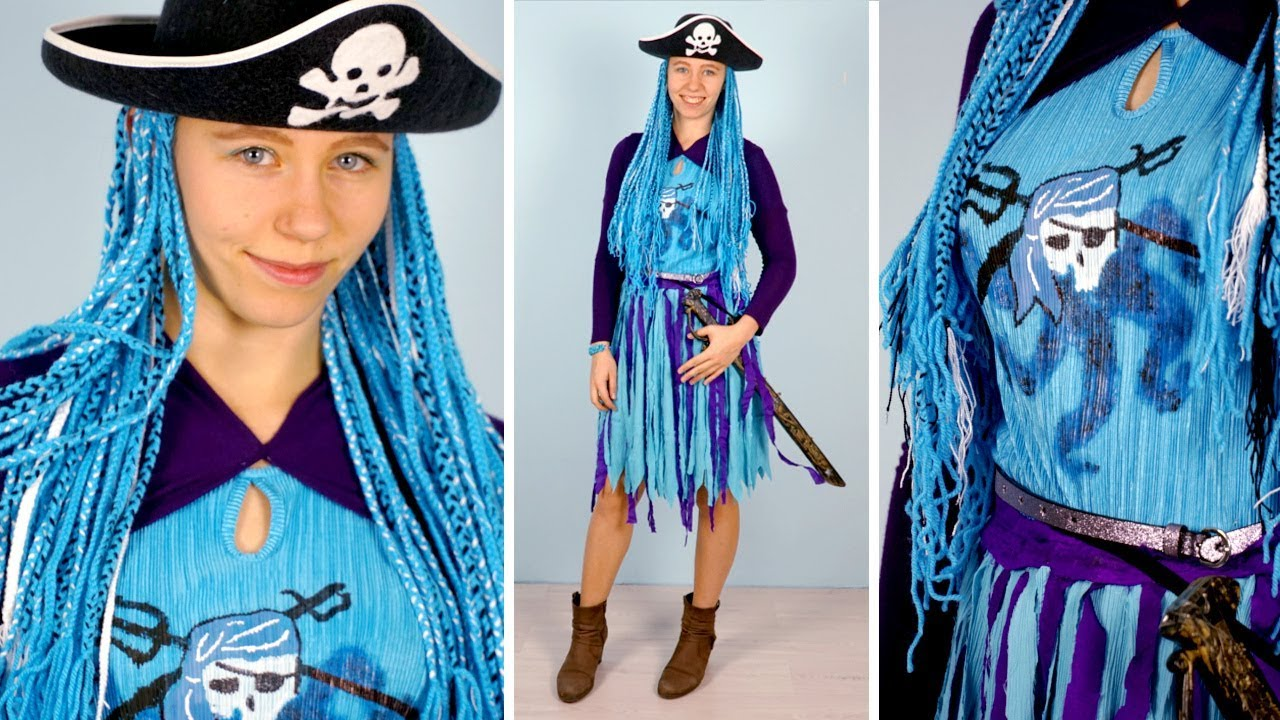 Making my own UMA COSTUME from Descendants 2 🧜♀️ DIY DRESS + WIG +  ACCESORIES from scratch