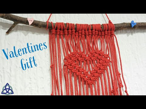 How To Make Gift For Valentine's Day - Macrame Wall Hanging Heart DIY