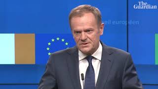 Donald Tusk: 'special place in hell' for those who promoted Brexit without plan