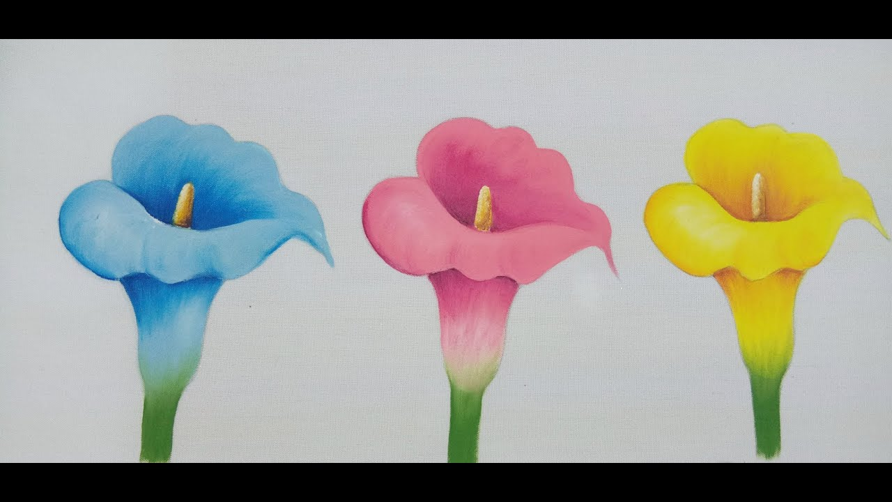 Como Pintar Flores How To Paint Flowers Callas Lilies