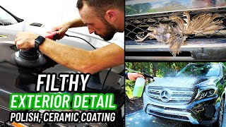 Filthy Exterior Car Detailing - How To Polish Your Cars Paint - Paint Correction & Ceramic Coating