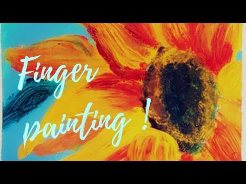 Finger painting / Sunflower painting