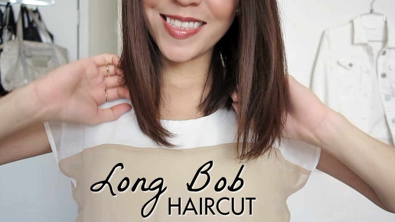 Long Bob Haircut Tutorial How To Cut Your Own Hair Lynsire Youtube