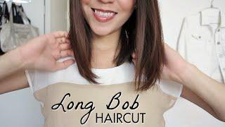 Long Bob Haircut Tutorial How Cut Your Own Hair