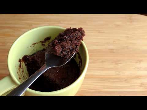 1 Minute Microwave Chocolate Mug Cake - Egg less Mug Cake by (HUMA IN THE KITCHEN)