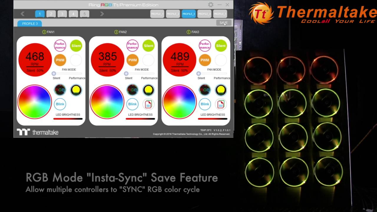 Riing 12 TT Premium Edition RGB Fan Software Overview