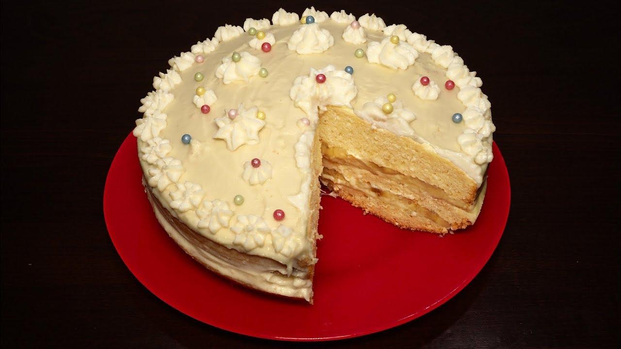 Бисквитный торт рецепт в домашних условиях с заварным кремом 44