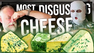 TRYING THE WORLD'S MOST DISGUSTING CHEESES (SO MUCH MOLD)
