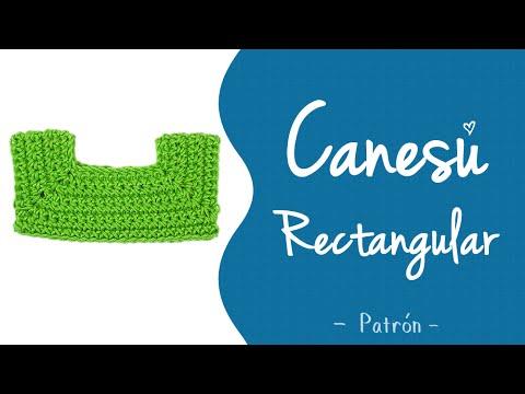 CANESÚ RECTANGULAR A CROCHET 3 de 3 (patrón - todas las tallas ...