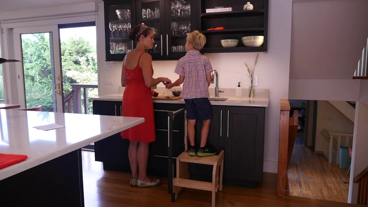 Hideaway Solutions Step 180 Cabinet Step Stool  YouTube