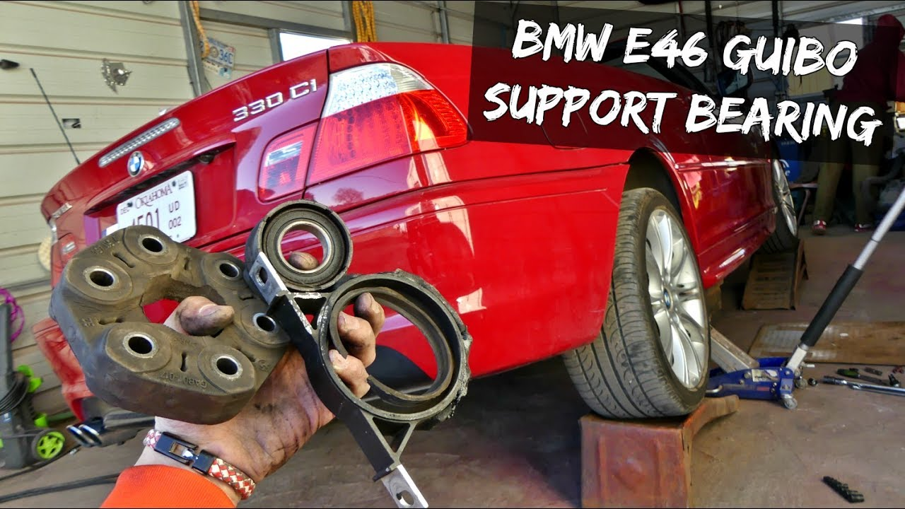 BMW E46 FLEX DISC GUIBO DRIVE SHAFT SUPPORT BEARING REPLACEMENT REMOVAL