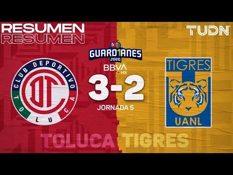 Resumen y goles | Toluca 3-2 Tigres | Guard1anes 2020 Liga BBVA MX - J5 | TUDN