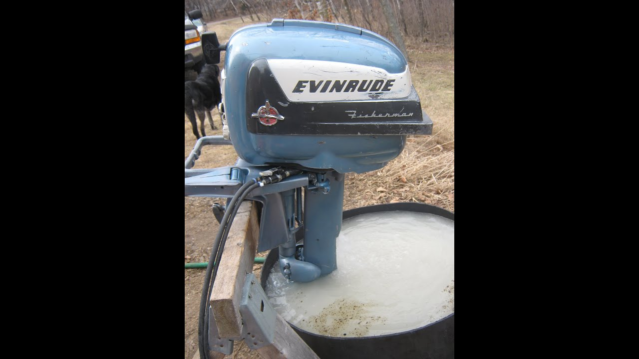 1956 evinrude fisherman outboard motor doovi for 55 johnson outboard motor
