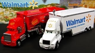 Cars 2 Mack and Wally Hauler Exclusive Semi Trucks Disney Pixar Mattel