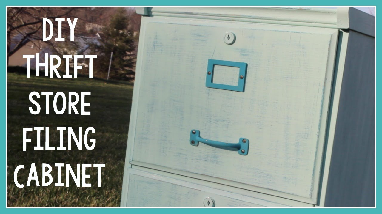 DIY Thrift Store Filing Cabinet   YouTube