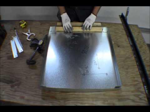 Ricksdiy Building Sheet Metal Overflow Drain Catch Pan For