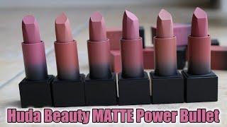 REVIEW & DEMO: NEW Huda Beauty MATTE Power Bullet Lipsticks!