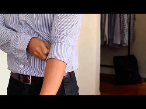 How To: Roll up your shirt sleeves (effectively)