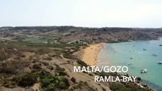 4K Malta-Gozo Ramla Bay DJI Phantom 4