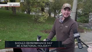 Should Remembrance Day be a national holiday? | Outburst