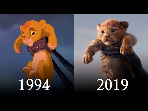 LION KING 1994 vs 2019 Teaser Comparison