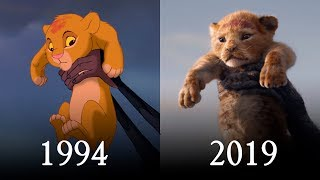THE LION KING (1994 vs 2019) Official Teaser Comparison SHOT BY SHOT
