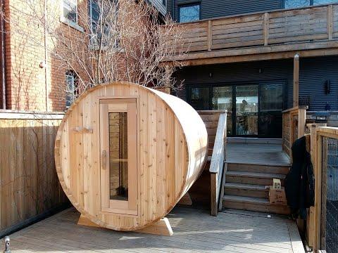 Dundalk LeisureCraft Red Cedar Barrel Sauna