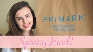 SPRING PRIMARK HAUL! (Try On) | Love On The Wall