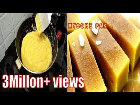 Mysore pak Sweet Recipe In Tamil Ghee (Nei Mysore Pak Diwali Sweet Recipe Youtube (நெய் மைசூர் பாக்)