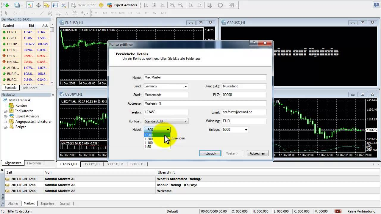 Metatrader Demokonto