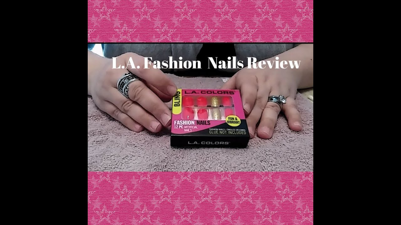 L.A. Color Bling Fashion Nails--Full Review 💅 - YouTube