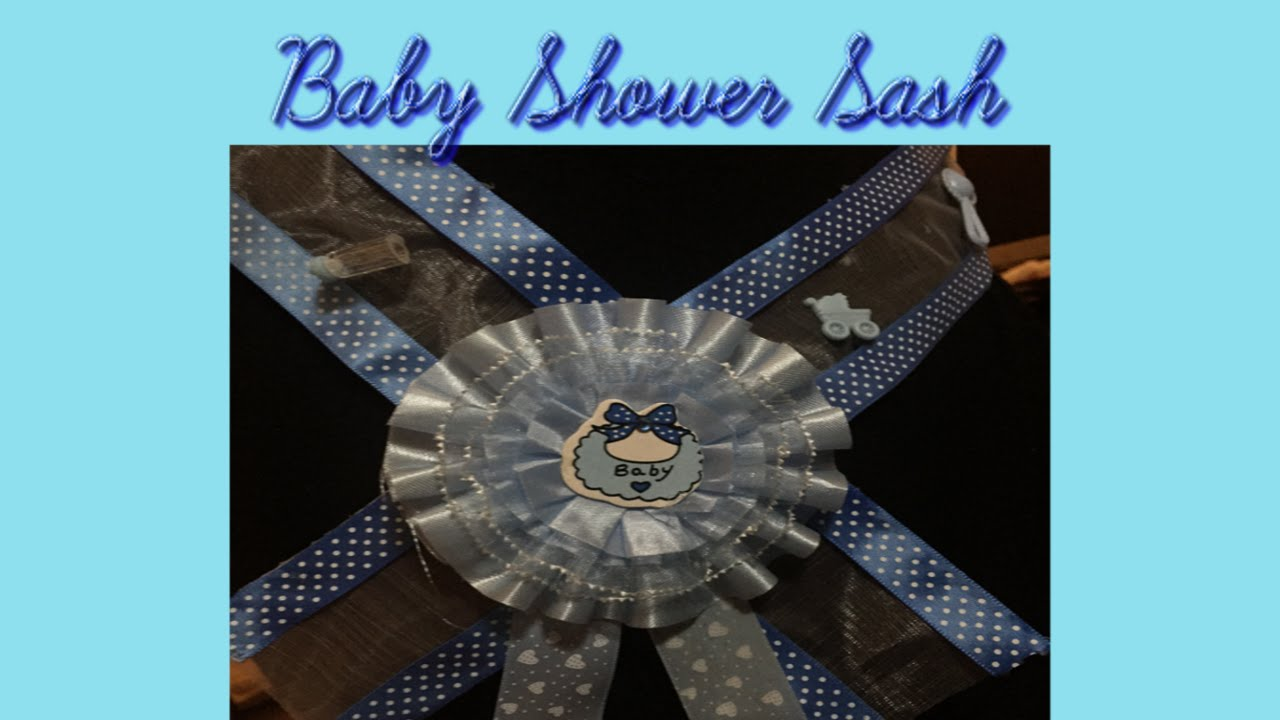 Baby Shower Sash Diy Do It Yourself Youtube