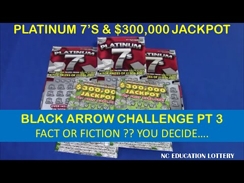 NC EDUCATION LOTTERY BLACK ARROW CHALLENGE PART 3: $5 AND $10 SCRATCHCARDS