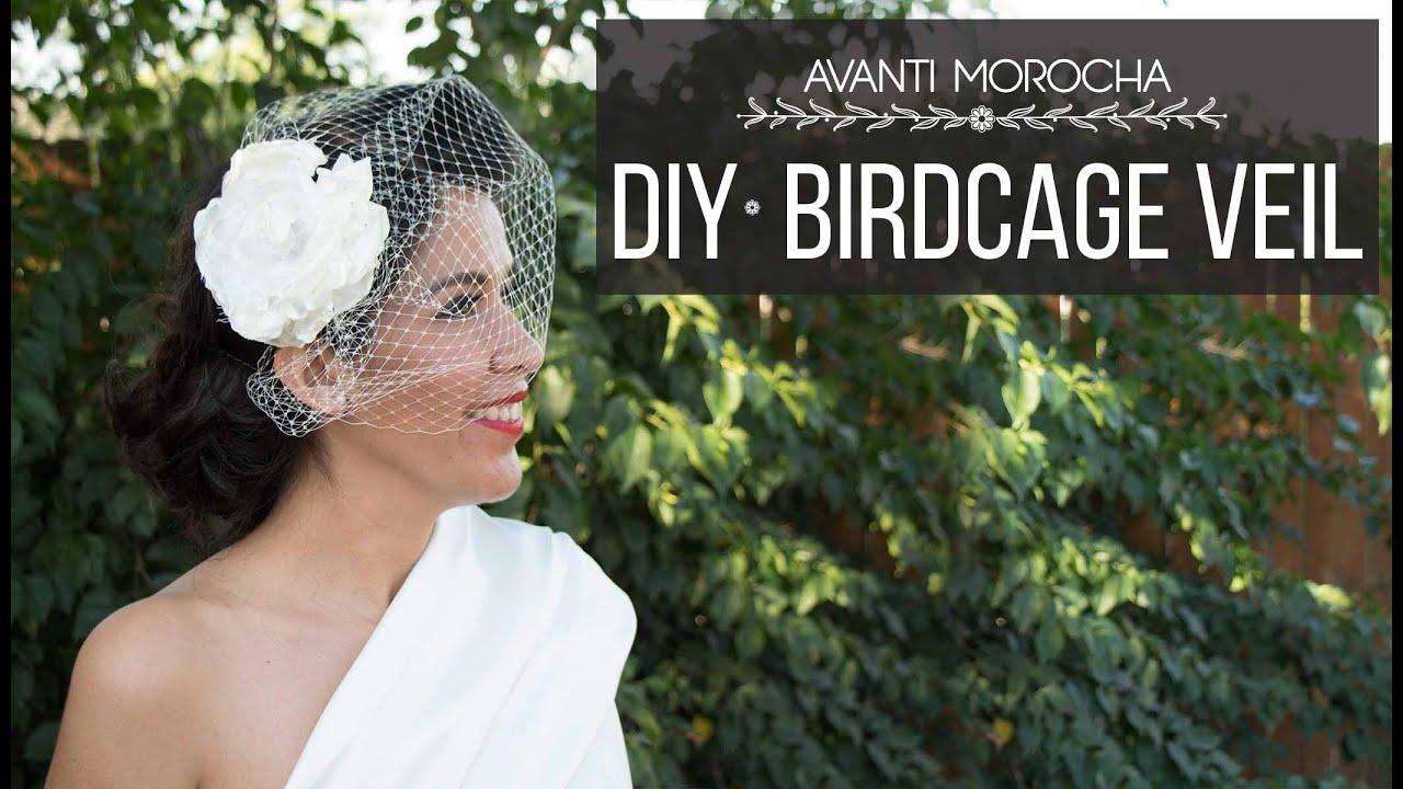 DIY Birdcage Veil / Velo de Novia - YouTube  DIY Birdcage Ve...