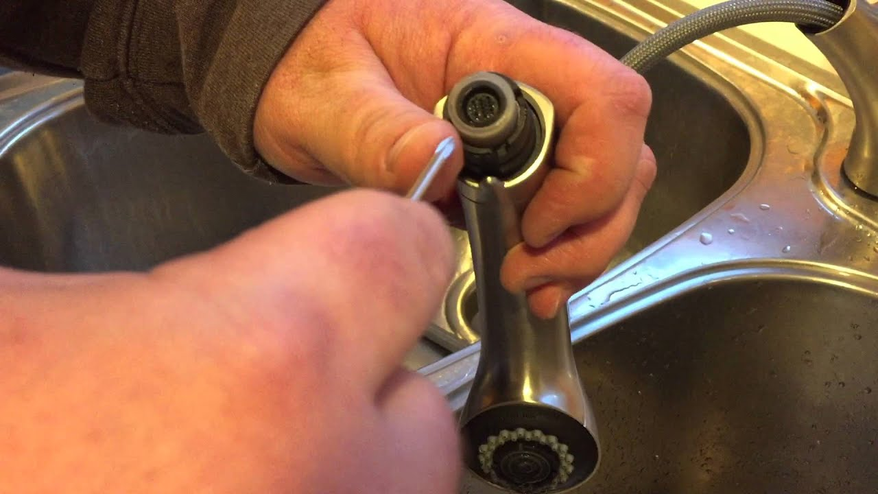 how to fix low water pressure from a new pullout kitchen faucet how to fix low water pressure from a new pullout kitchen faucet youtube