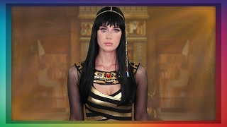 ASMR Cleopatra Role Play  (golden face mask application)