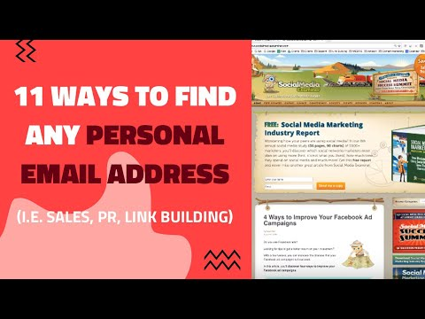 11 Ways to Find ANY Personal Email Address (i.e. Sales, PR, Link Building)